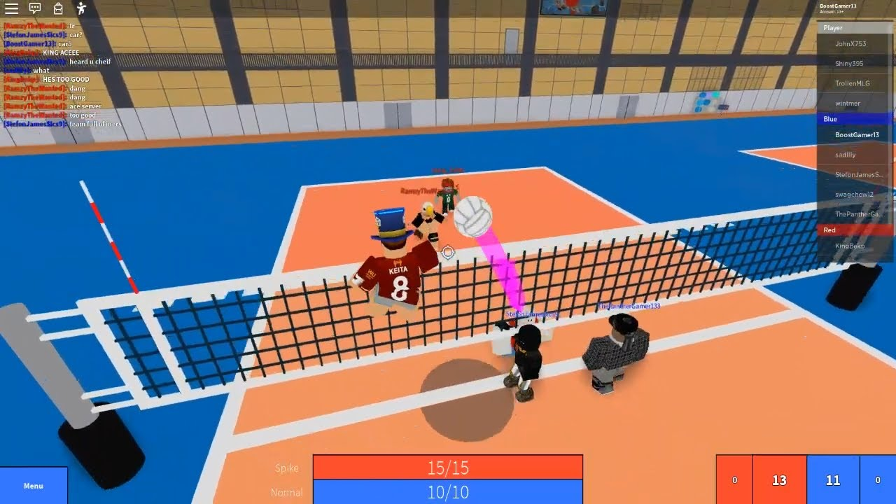 Roblox Volleyball 4 2 Quick Attack Play In Pickups Youtube