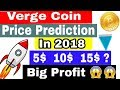 Verge (XVG) Coin Price Prediction In 2018    Invest In Verge And Make Big Profit In Future