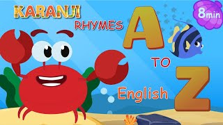 ABC SONG | SEA ANIMALS ALPHABET SONG A Z | KARANJI ENGLISH- KIDS RHYMES & SONGS