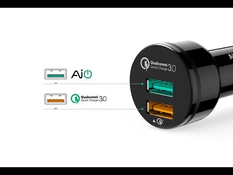 AUKEY Dual Port Car Charger Quick Charge 3.0 - UNBOXING