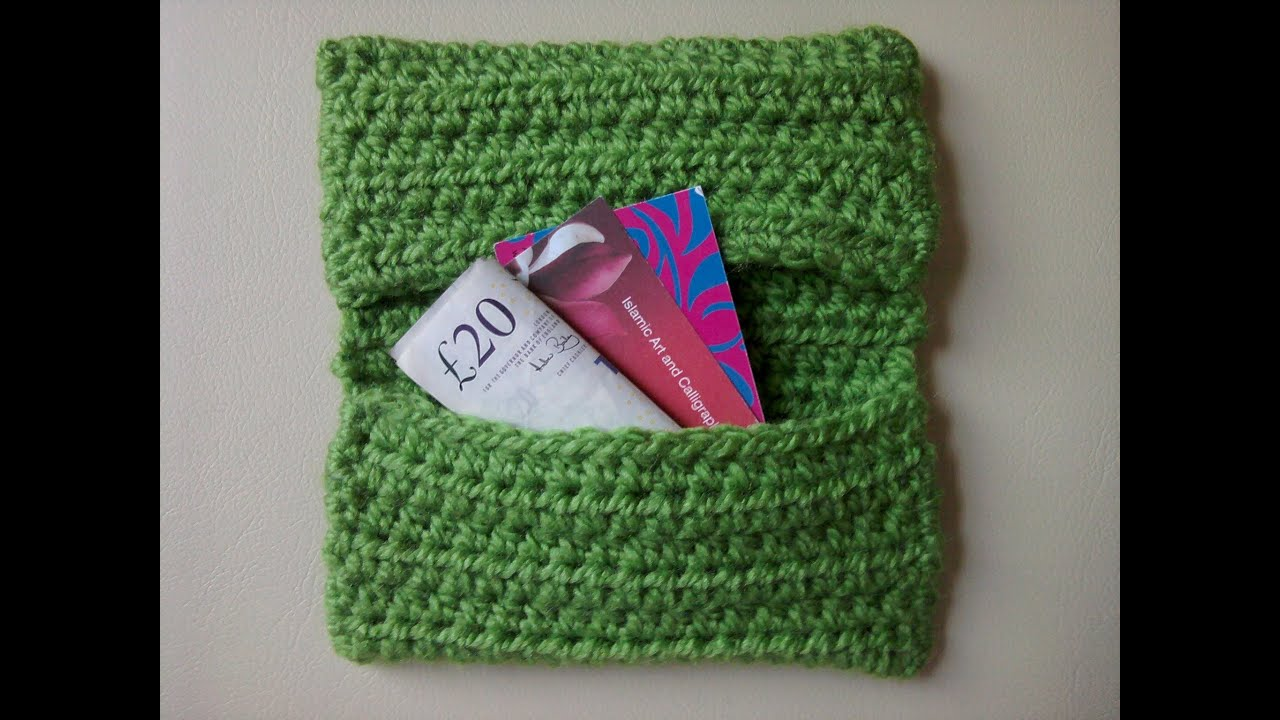 Crochet Bag Youtube : How to Crochet a Credit Card Purse - Easy - YouTube