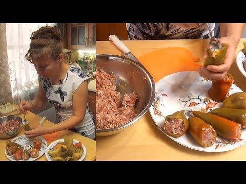 Фаршированные перцы мясом и рисом