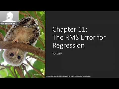Stats Lecture C11 RMS Error for Regression