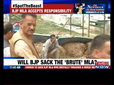 Horse assault: Will BJP sack the MLA?