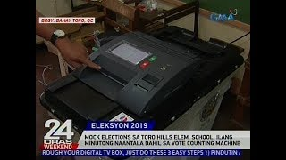 Mock elections sa Toro Hills Elem. School, ilang minutong naantala dahil sa vote counting machine