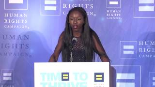 Daniella Carter speaks at the 2015 HRC Foundation's Time To THRIVE Conference