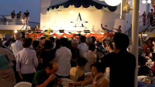 2010年飛鳥Ⅱ世界一周クルーズにて飛鳥Ⅱ南シナ海終日航海 アスカⅡアジア...