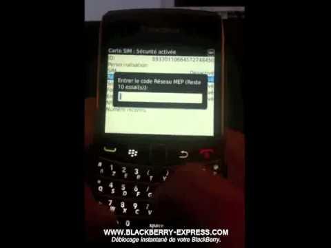 Déblocage BlackBerry - Comment débloquer Blackberry Bold 9700 (Curve, Torch, Bold, Storm)