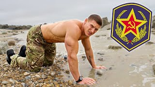 Bodybuilder tries the Russian Army Fitness Test without practice