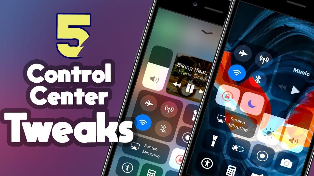 Top 5 Control Center Cydia Tweaks for iOS 11 - 11 4 1 [PART 1]