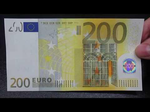 Banconota 200 Euro Prima Serie BCE EU