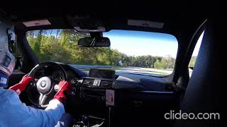 BMW F80 M3 at lime rock park.  Fast Lap