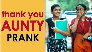 Thank You AUNTY Prank in Telugu | Pranks in Hyderabad 2018 | FunPataka