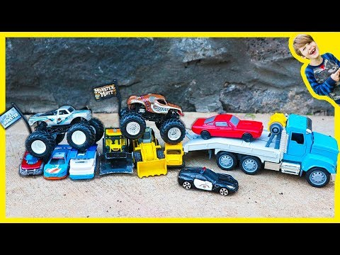 Monster Trucks, Tow Trucks and Toy Cars for Children