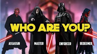 Which Sith Has the Same PERSONALITY As YOU?