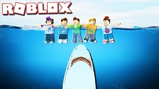 the pals survive a jaws shark attack in roblox