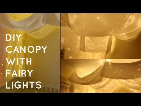 Diy Canopy With Fairy Lights 🌟