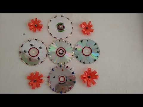 Cd decoration on the wall by abcd N.peta