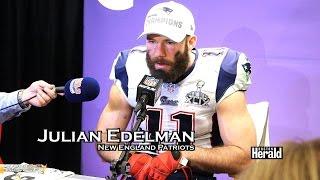 patriots over seahawks super bowl post game brady belichick edelman
