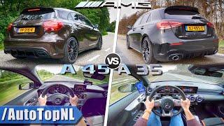 Mercedes AMG A35 vs A45  0250kmh Exhaust SOUND amp; AUTOBAHN POV by AutoTopNL