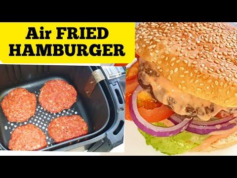 Air Fried Hamburger From Scratch.How To Make Air fryer cheeseburger Recipe.Air Fry Burger Beef Patty