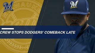 Crew stops a powerful Dodgers' comeback in the 8th