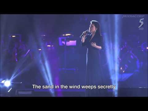 黃鶯鶯Tracy Huang。Feelings/哭砂。Sing50 Concert, 7 August 2015, Singapore National Stadium