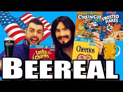 Irish People Try American Breakfast Cereals With Beer!  = 'B