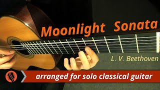Moonlight Sonata, No. 14, mvt. 1, Adagio (Guitar Transcription) - Ludwig van Beethoven - Stafaband