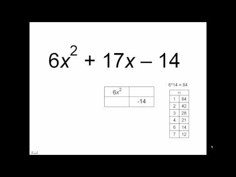 Factoring By The Box Method Example 3