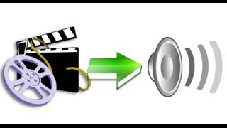 Как отделить музыку/звук от видео