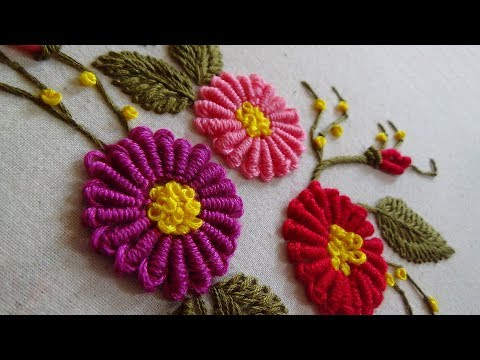 Hand Embroidery: Cone Bullion Knot Stitch