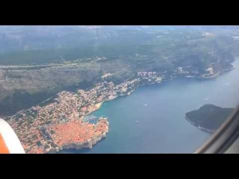 Landing at Dubrovnik (Croatia) airport