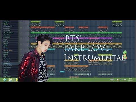 BTS (방탄소년단) FAKE LOVE  Instrumental (FL Studio Tutorial)