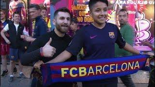 El 'gemelo' de Messi enloquece a los hinchas del FC Barcelona
