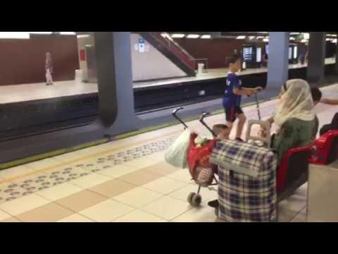 Metro station Brussels, Belgium