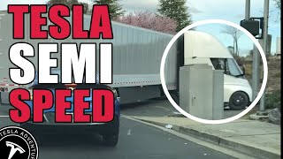 Tesla Semi Acceleration Smokes The On-ramp (clip)