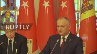Moldova: Moldovan Pres. Dodon flatters Erdogan for Turkey's intl. relations