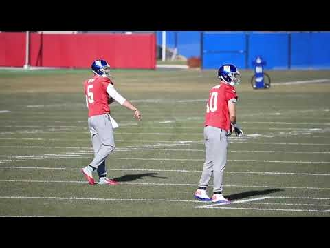 Giants QBs Eli Manning, Geno Smith and Davis Webb