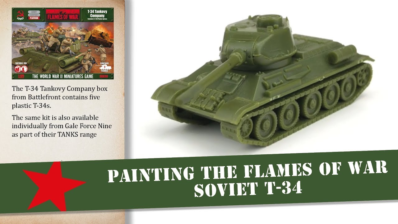 WWII *Flames Of War* Gale Force Nine FOW Soviet T-34 Tank 76mm
