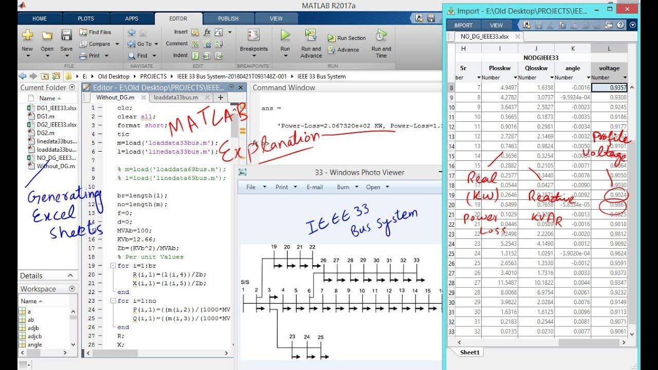 Load Flow Analysis - Power System Analysis (Matlab Programming)