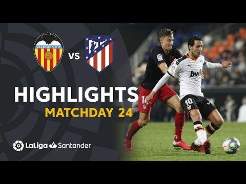 Highlights Valencia CF vs Atletico Madrid (2-2)