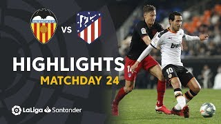 Highlights Valencia CF vs Atletico Madrid (2-2)