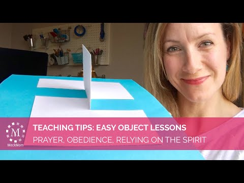 Easy Object Lesson To Teach Prayer, Obedience, Follow The Prophet