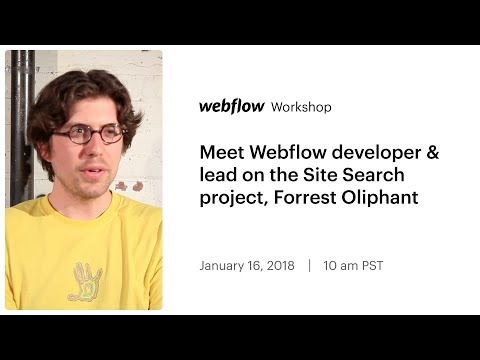 Meet Webflow developer & lead on the Site Search project, Forrest Oliphant
