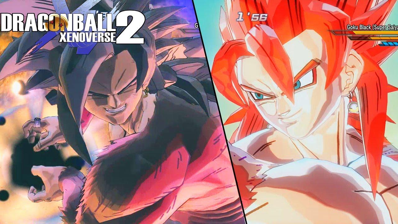 Goku black reaches ssj4 super saiyan 4 rose goku black vs - Dragon ball xenoverse ss4 vegeta ...
