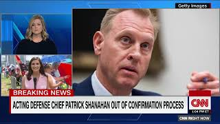Trump says Shanahan out of confirmation process to be defense secretary