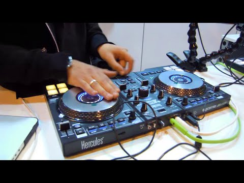 DJ controllers and scratching - Hercules booth at BPM 2015