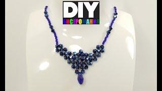 Колье из Бисера и Биконусов Мастер Класс/ Tutorial: Necklace from Beads and Bicones!