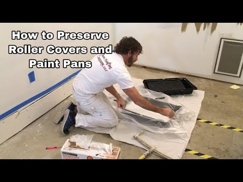 How to Preserve Your Paint Roller Covers and Pan Paint at the End of Each Day